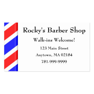 Cita de encargo de la peluquería de caballeros del tarjetas de visita