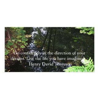 CITA de Henry David Thoreau Plantilla Para Tarjeta De Foto
