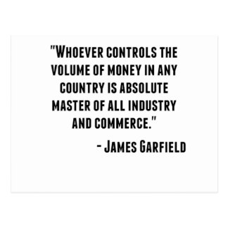 Cita de James Garfield Postal
