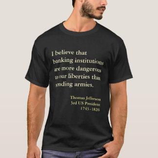 Cita de la advertencia del banco de Thomas Camiseta