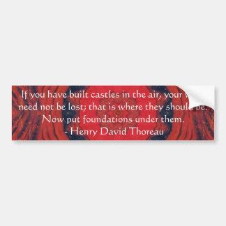 Cita de la amistad de Henry David Thoreau Pegatina Para Coche
