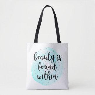 Cita de la belleza de la acuarela bolso de tela