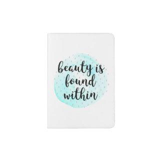 Cita de la belleza de la acuarela portapasaportes