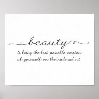 Cita de la belleza - impresión del arte