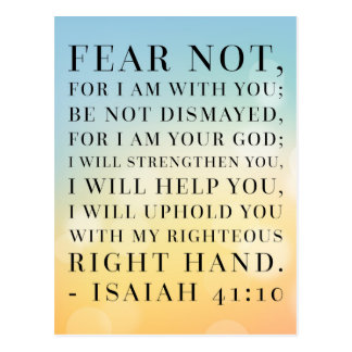 Cita de la biblia del 41:10 de Isaías Postal