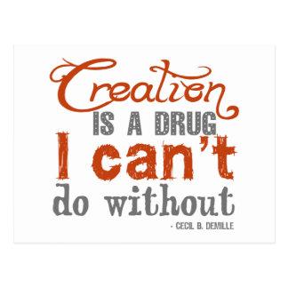 Cita de la creación de Cecil B. DeMille Postal