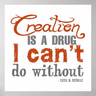 Cita de la creación de Cecil B DeMille Poster