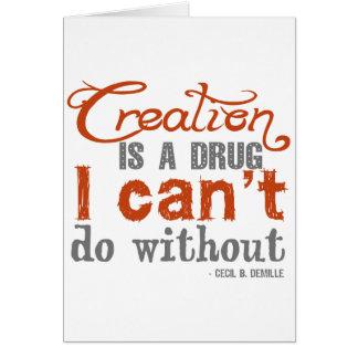 Cita de la creación de Cecil B. DeMille Tarjeta Pequeña