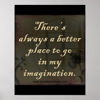 Cita de la imaginación póster
