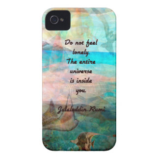 Cita de la inspiración de Rumi sobre el universo Carcasa Para iPhone 4