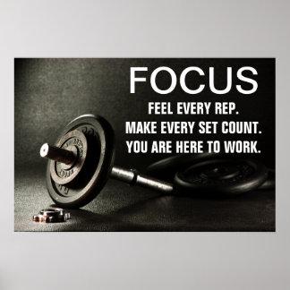Cita de la motivación del entrenamiento del póster