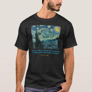 Cita de la noche estrellada camiseta