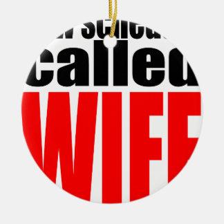 cita de la realidad del recién casado del horario adorno de cerámica