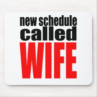 cita de la realidad del recién casado del horario alfombrilla de ratón