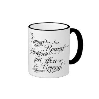 Cita de la taza, de Romeo y de Juliet de Taza De Dos Colores