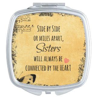 Cita de las hermanas espejos de maquillaje