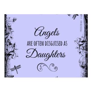 Cita de las hijas: Los ángeles están a menudo Postal