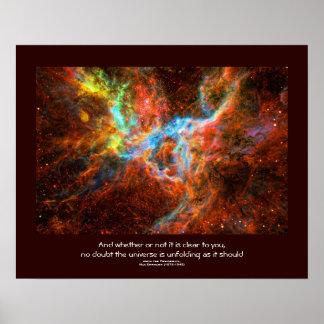Cita de los desiderátums - formación estelar de la póster