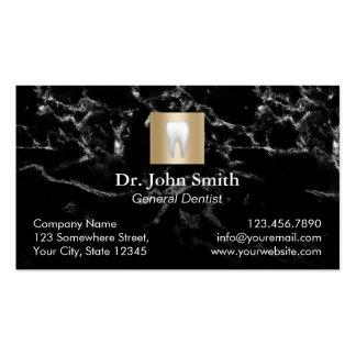 Cita de mármol moderna del cuidado dental del tarjetas de visita