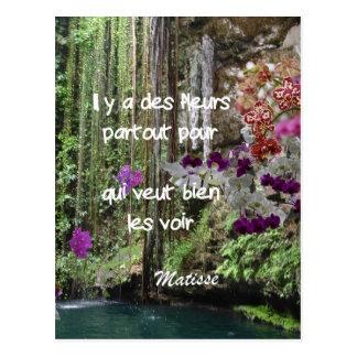 Cita de Matisse en francés Postal