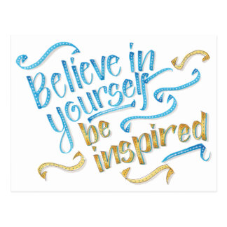 Cita de motivación - crea en sí mismo postal