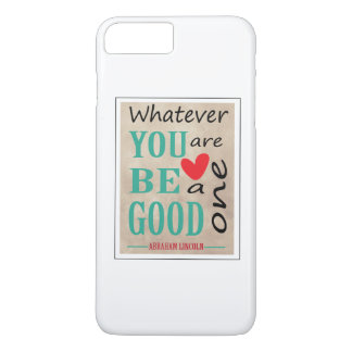 Cita de motivación de Abraham Lincoln Funda iPhone 7 Plus