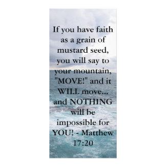 Cita de motivación de la biblia del 17:20 de Matth Lona Publicitaria