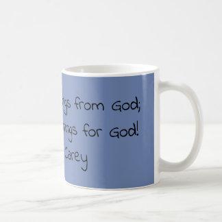 Cita de motivación de la taza de café del gris