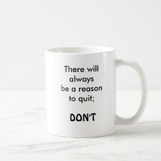 cita de motivación, taza de café