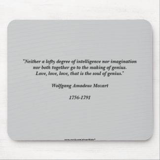 Cita de Mozart Alfombrilla De Ratón