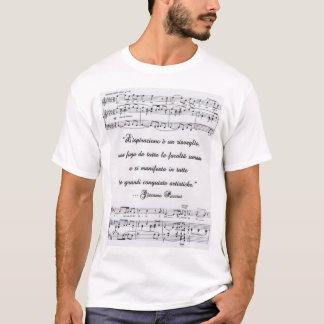 Cita de Puccini en italiano con la notación Camiseta