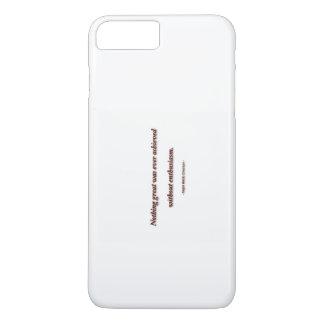 Cita de Ralph Waldo Emerson - nada de la vida Funda iPhone 7 Plus