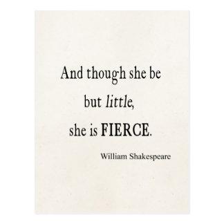 Cita de Shakespeare ella sea citas pequeñas pero Postal