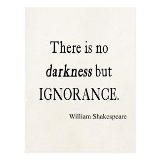 Cita de Shakespeare ningunas citas de la oscuridad Postal