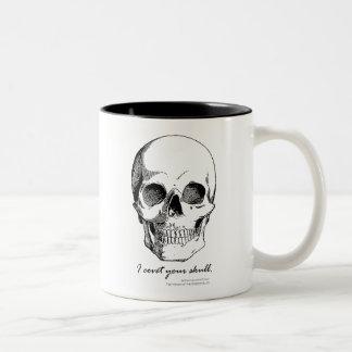 Cita de Sherlock codicio su taza gótica del cráneo