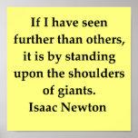 cita de sir Isaac Newton Posters