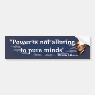 Cita de Thomas Jefferson en mentes puras Pegatina Para Coche