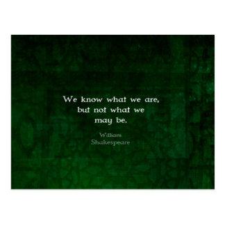 Cita de William Shakespeare sobre posibilidades Postal