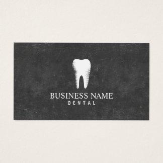 Cita del cuidado dental de la pizarra del dentista tarjeta de negocios