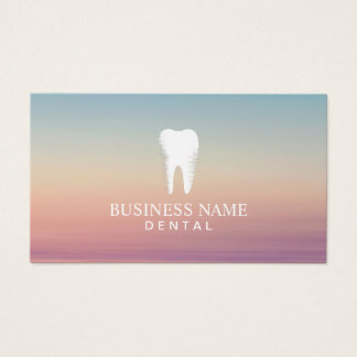 Cita del cuidado dental del dentista elegante tarjeta de negocios
