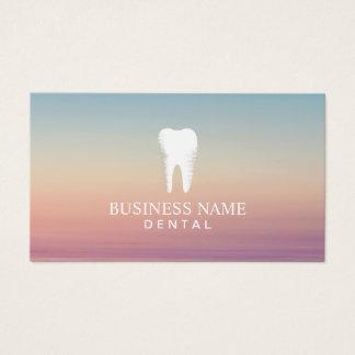 Cita del cuidado dental del dentista elegante tarjeta de visita