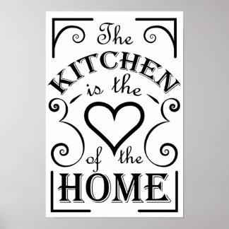 Cita del diseño de la cocina póster