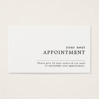 Cita del diseño simple tarjeta de negocios
