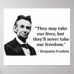 Cita del duende de Abraham Lincoln Póster