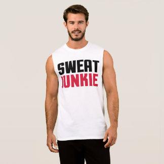 Cita del gimnasio del drogadicto del sudor camiseta sin mangas