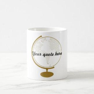 Cita del globo DIY del oro Taza Clásica
