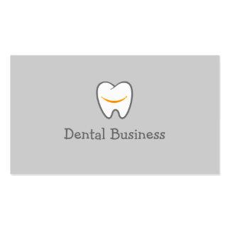 Cita del higienista dental del icono del diente tarjetas de visita