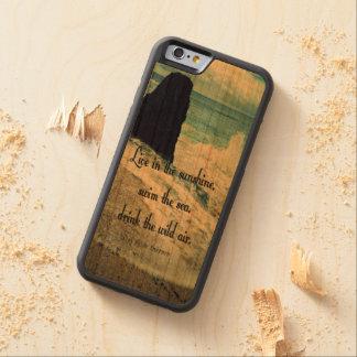 Cita del mar del océano de la sol funda protectora de cerezo para iPhone 6 de carved