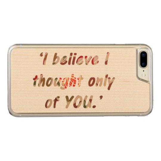 Cita del orgullo y del perjuicio funda para iPhone 7 plus de carved