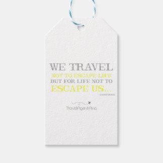 Cita del viaje etiquetas para regalos